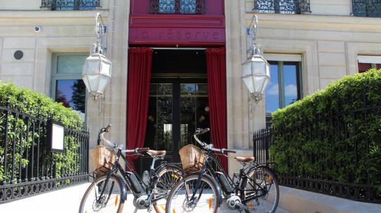 Велосипеды в La Réserve Paris